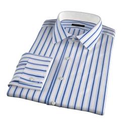 Canclini 120s Blue Multi Stripe Tailor Made Shirt