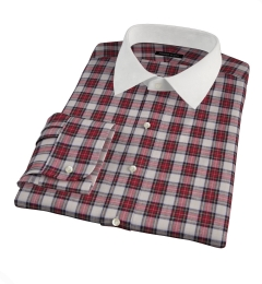 Japanese Red Donegal Tartan Tailor Made Shirt