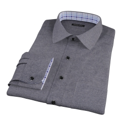 Canclini Charcoal Herringbone Flannel Custom Made Shirt