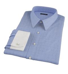 Morris Blue Wrinkle-Resistant Glen Plaid Fitted Dress Shirt