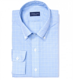 Grandi and Rubinelli Featherweight Glen Plaid Fitted Shirt