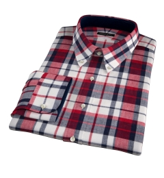 Dorado Red Plaid Men's Dress Shirt