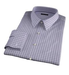 Minetta Grey Wrinkle-Resistant Multi Check Custom Made Shirt