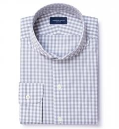Canclini Grey Gingham Tailor Made Shirt