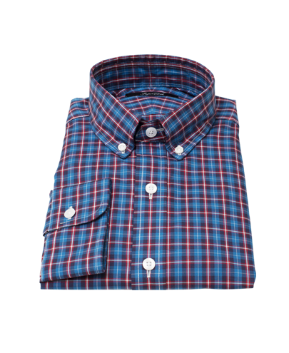Blue and Red Tartan Tailor Made Shirt