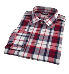 Dorado Red Plaid Custom Made Shirt
