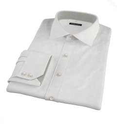 Canclini White Fine Twill Custom Dress Shirt