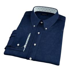 Albini Navy Melange Oxford Tailor Made Shirt