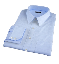 Thomas Mason Light Blue Fine Twill Custom Made Shirt