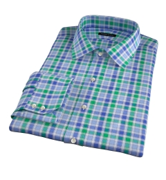 Green Large Multi Check Custom Made Shirt