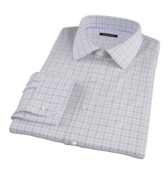 Thomas Mason Brown Multi Check Custom Dress Shirt