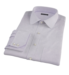 Lavender Wrinkle Resistant Cavalry Twill Custom Made Shirt