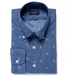 Katazome Faded Deco Print Custom Dress Shirt