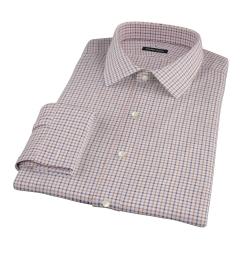 Canclini Maple Tattersall Lightweight Flannel Custom Made Shirt