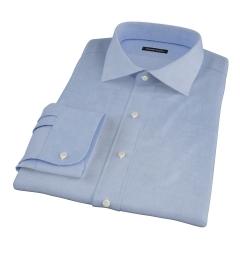 Thomas Mason Blue Mini Houndstooth Fitted Dress Shirt