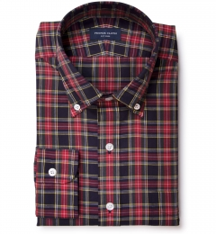Red Navy Stewart Tartan Custom Made Shirt