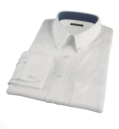 White Heavy Oxford Cloth Men's Dress Shirt