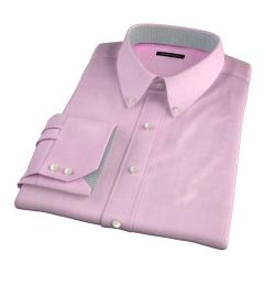 Thomas Mason Pink Prince of Wales Check Dress Shirt