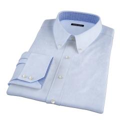 Thomas Mason Goldline Light Blue Fine  Twill Fitted Dress Shirt