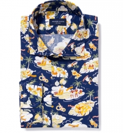 Japanese Aloha Print Custom Made Shirt