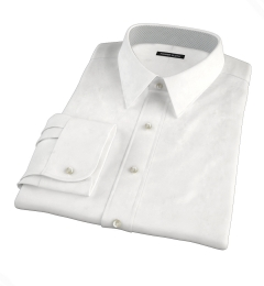 White 80s Broadcloth Men's Dress Shirt