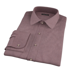 Teton Dark Brown Flannel Custom Dress Shirt