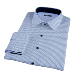 Blue Regis Check Fitted Shirt