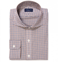 Canclini Maple Tattersall Lightweight Flannel Dress Shirt