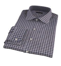 Canclini Grey Gingham Heavy Flannel Custom Dress Shirt