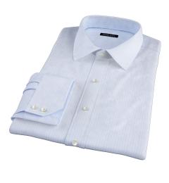 Thomas Mason Light Blue Vintage Stripe Dress Shirt