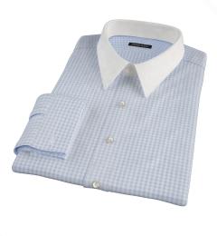 Medium Light Blue Gingham Dress Shirt