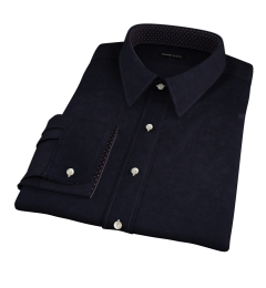 Mercer Black Broadcloth Dress Shirt