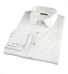 White Basketweave Dress Shirt