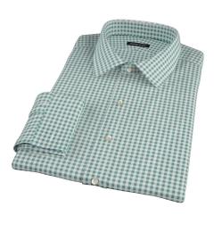 Lorimer Forest Green Check Custom Dress Shirt