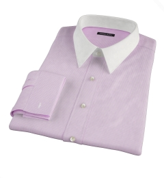Carmine Pink Mini Check Custom Dress Shirt