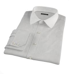 Canclini Light Gray End on End Custom Dress Shirt