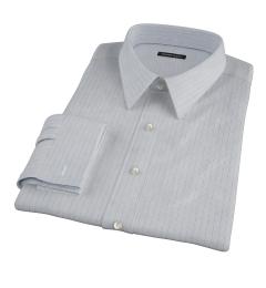 Japanese Light Blue Multi Stripe Custom Dress Shirt