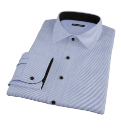Blue Carmine Stripe Custom Made Shirt