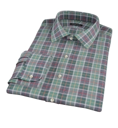 Green Dock Street Flannel Fitted Dress Shirt
