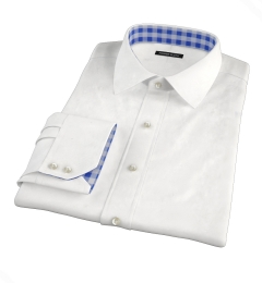Greenwich White Broadcloth Tailor Made Shirt