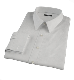 Canclini Light Gray End on End Custom Dress Shirt