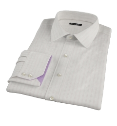 Light Pink Satin Stripe Custom Dress Shirt