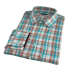 Dorado Aqua Plaid Men's Dress Shirt