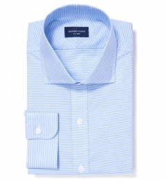 Carmine Light Blue Horizontal Stripe Dress Shirt