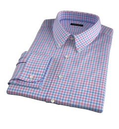 Thomas Mason Hibiscus Multi Check Fitted Shirt