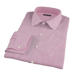 Red Navy Mitchell Check Flannel Tailor Made Shirt