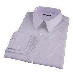 Thomas Mason Luxury Lavender Mini Grid Custom Made Shirt