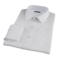 Light Blue Micro Grid Fitted Dress Shirt