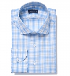 Siena Blue and Yellow Multi Check Dress Shirt