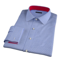 Granada Blue Print Fitted Dress Shirt